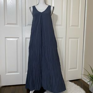 Soft Surroundings La Paz Crinkle Maxi Dress Xs